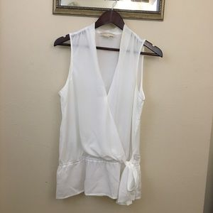 Michael Kors White Blouse Size Medium